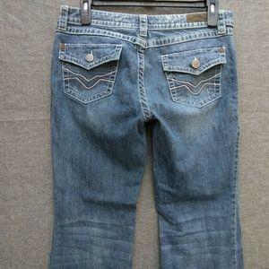 Harley-Davidson BootCut Jeans Distressed Wash